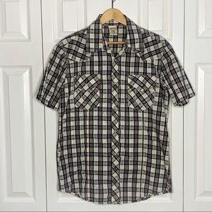 True Religion Western Short Sleeve Snap Shirt